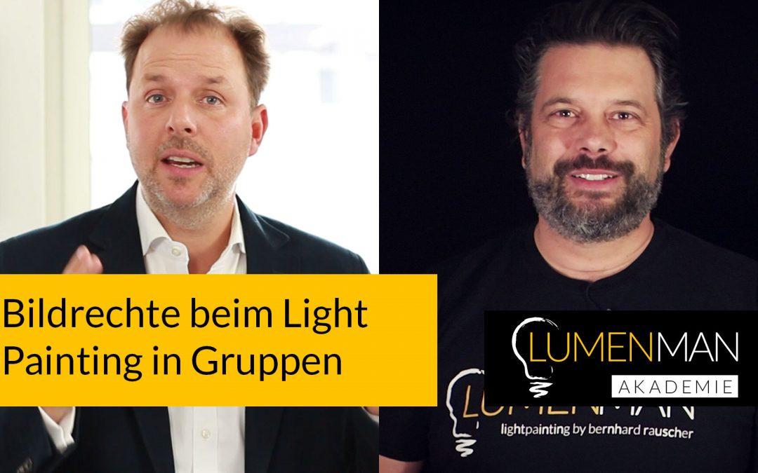 Bildrechte beim Lightpainting in Gruppen
