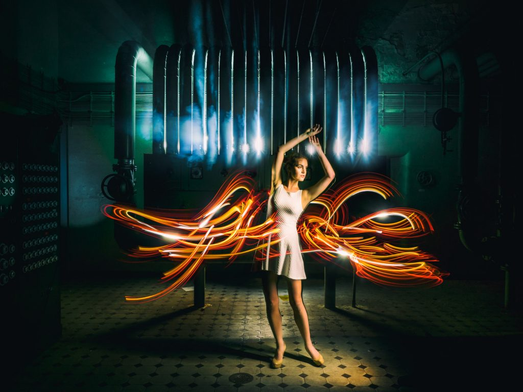 Fashion Lightpainting Mode aus Licht