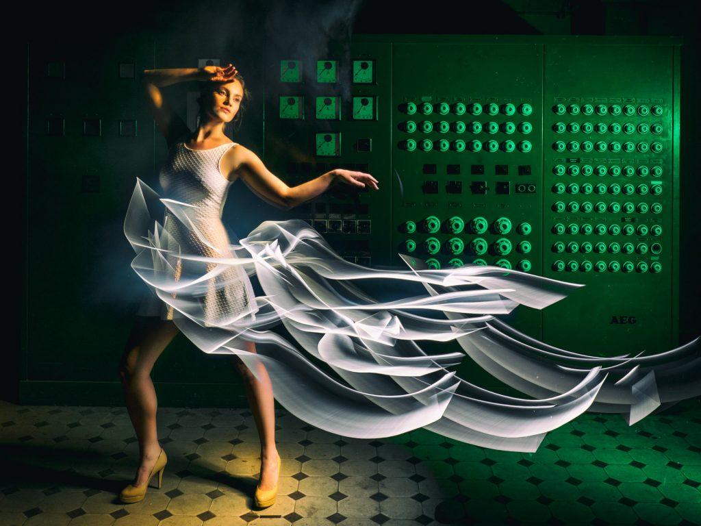 Fashion Lightpainting Kleider aus Licht