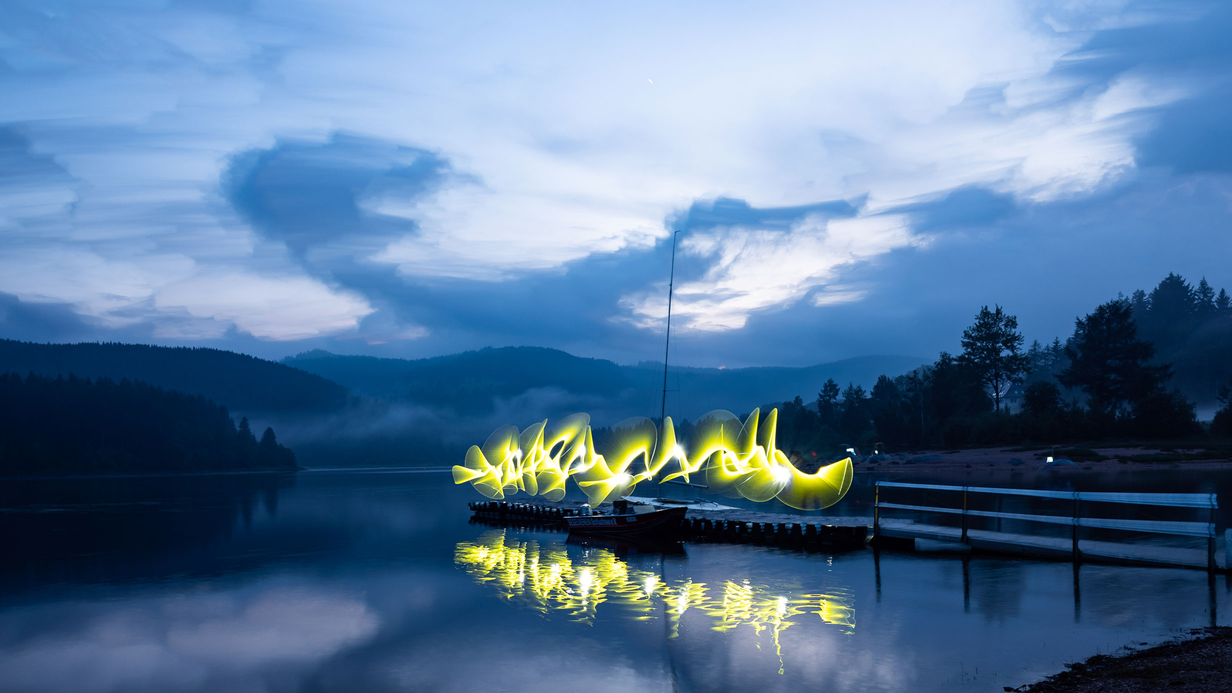 Lightpainting Workshop am Schluchsee