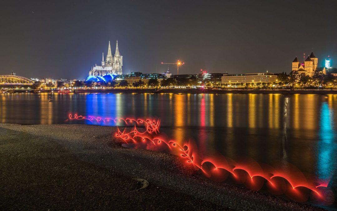 Gruppen Lightpainting Konzept zum Meetup in Köln