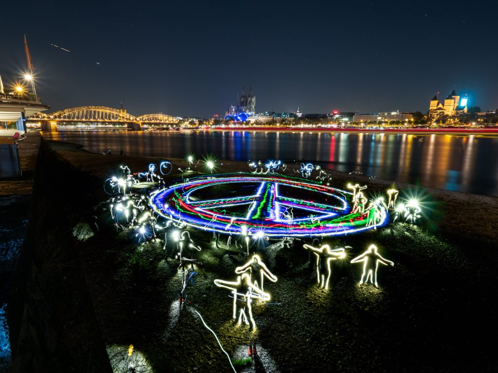 Gruppen Lightpainting Lightpainting4peace